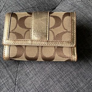 Coach small wallet with gold inside!